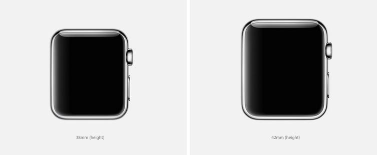 Размеры Apple Watch