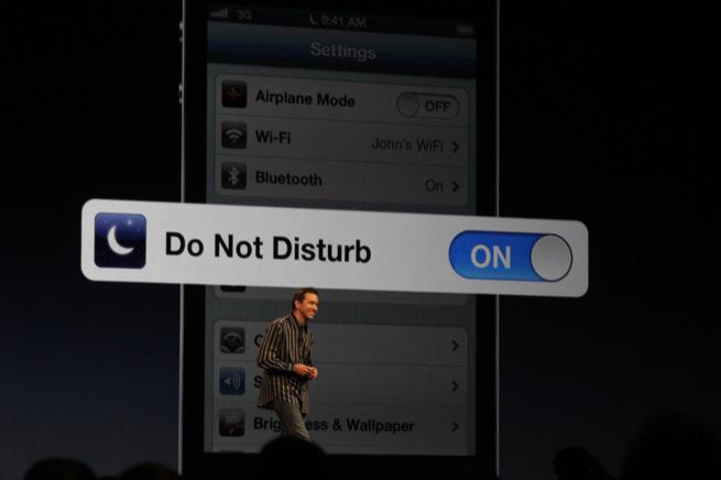 Настраиваем режим «Не беспокоить» в iOS 6
