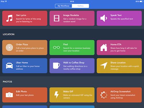 Интерфейс приложения Workflow