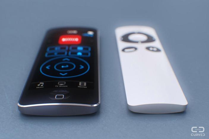 Один из концептов пульта Apple TV 4