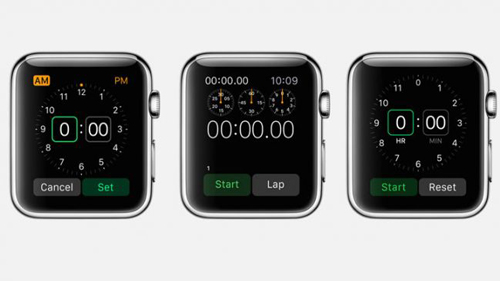 Таймер и секундомер в Apple Watch