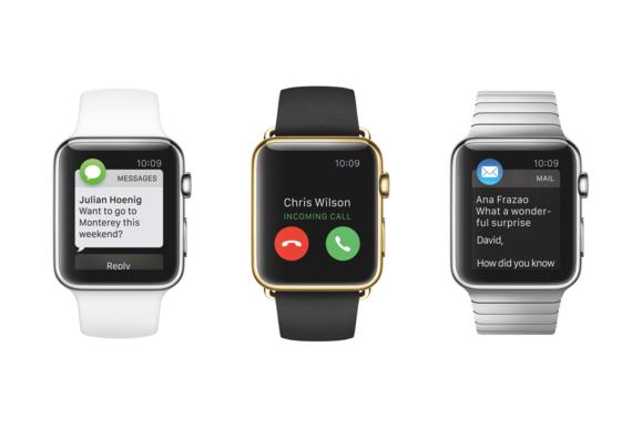 Три модели Apple Watch