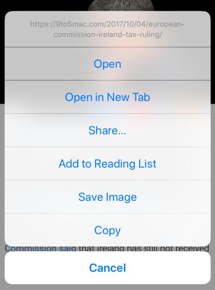 Long-press на зображенні збереже його чи скопіює до буфера обміну