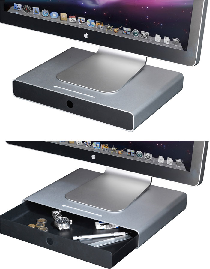 Just Mobile Drawer Monitor Stand