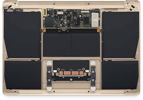 Материнская плата и батарея MacBook