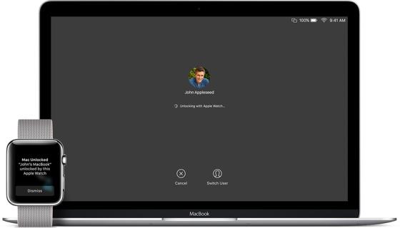 Для розблокування MacBook достатньо просто піднести Apple Watch