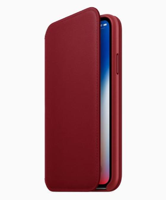 Шкіряний чохол (PRODUCT) RED для iPhone X