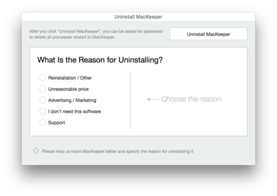 Якщо у вас - остання версія MacKeeper, видалення не буде складним, а Malwarebytes Anti-Malware допоможе все почисти