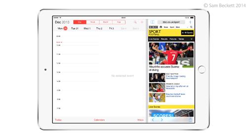 Многооконный режим на iPad