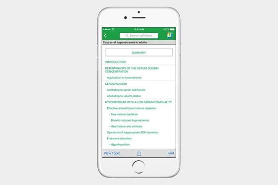 UpToDate - медійний медичний додаток
