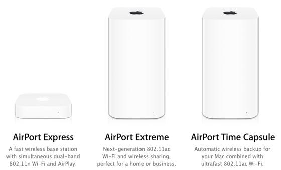 Прощавайте, AirPort, AirPort Extreme та Time Capsule