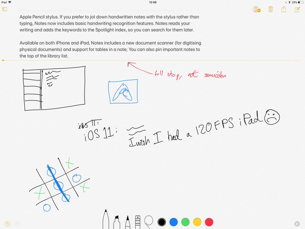 Notes тепер підтримує вбудований малюнок