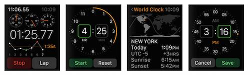 Интерфейс Apple Watch