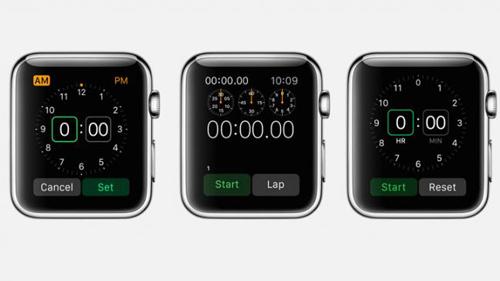 Таймер и секундомер в Apple Watch