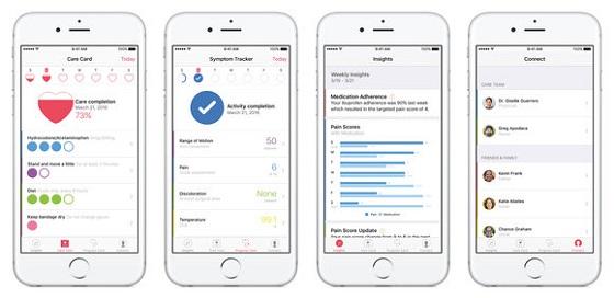 Додатки HealthKit і CareKit та платформа ResearchKit дозволяють стежити за своїм здоров'ям
