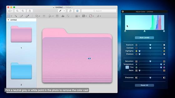Як змінити колір папки у macOS