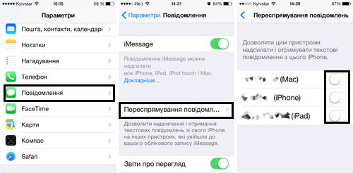 Активация переадресации sms и mms