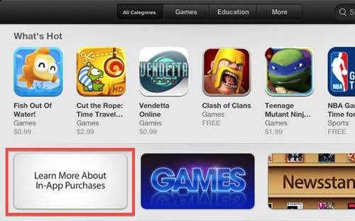 В App Store появился раздел, посвященный встроенным покупкам