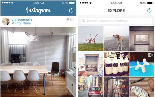 Приложение Instagram получило дизайн в стиле iOS 7