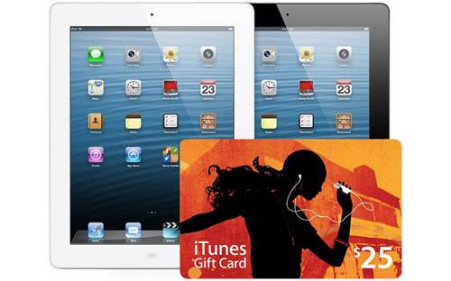 Купите iPad 4gen и получите iTunes Gift Card в подарок!