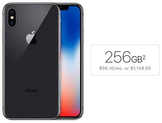 iPhone X на 256 Гб уже користується неабияким попитом