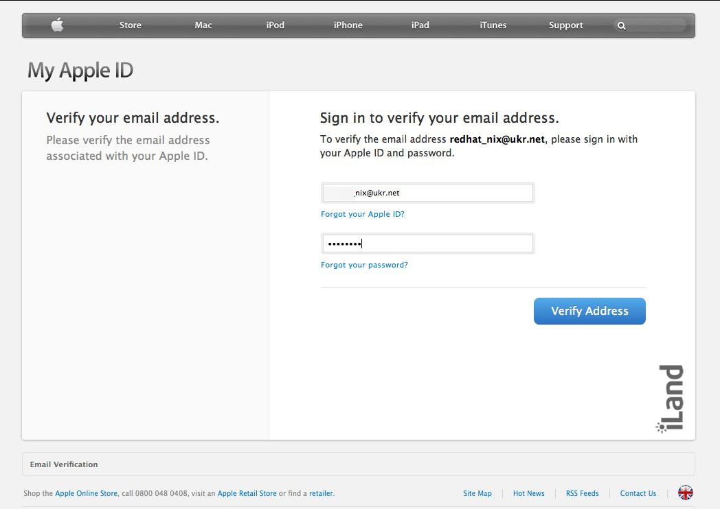 Регистрация в украинском iTunes Store