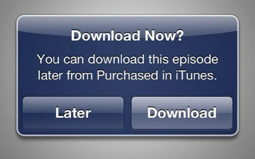 В iTunes появилась опция «загрузить позже»