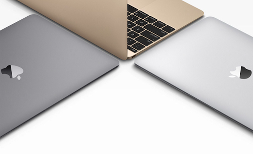 MacBook в 3-х доступных цветах