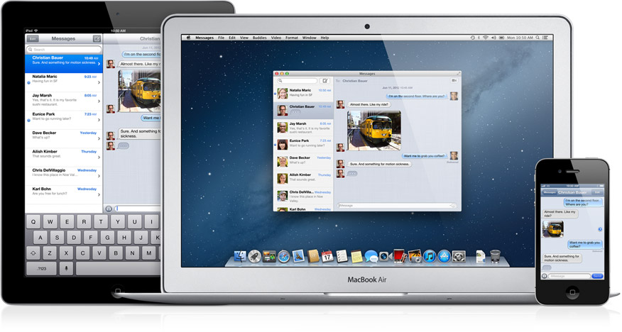Messages on iPhone, iPad, OS X