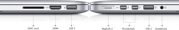 Новый MacBook Pro – порты