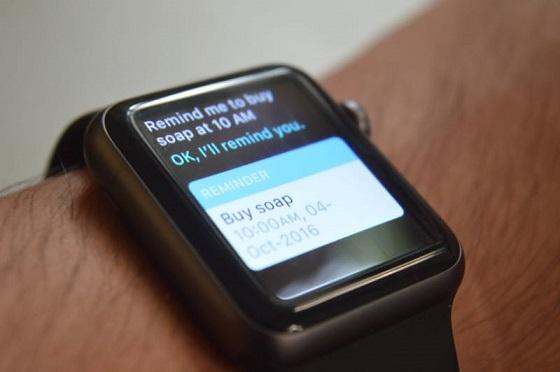 Reminders на Apple Watch працює у партнерстві із Siri