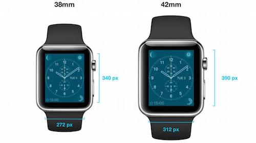 Размер корпуса Apple Watch