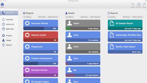 SG Project 5 – следим за проектом на Mac