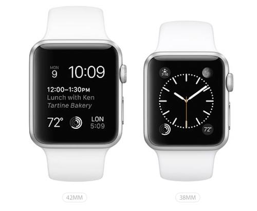 Apple Watch Sport в 2-х размерах: 42мм и 38мм.