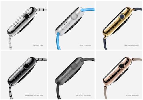 Материалы корпуса Apple Watch