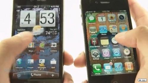 Видео: Сравнение iPhone 4 и HTC Droid Incredible