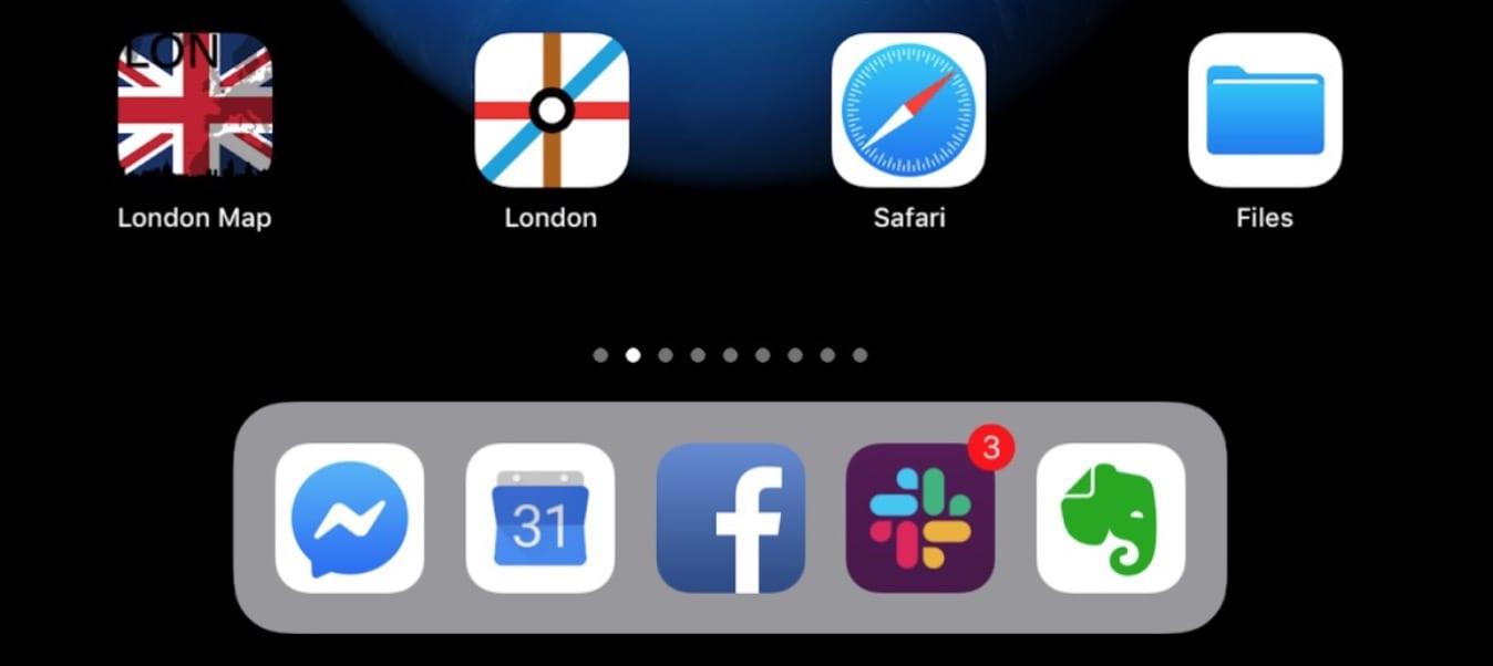 Home Screen iPad Дмитра Гадомського