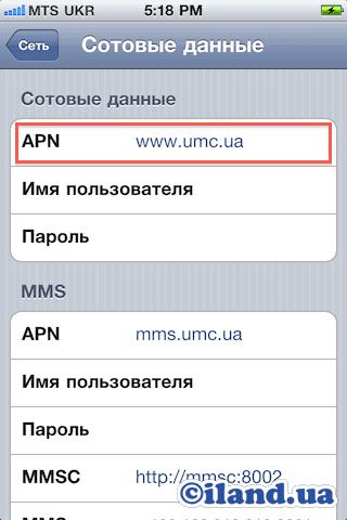 1a4fcc3de3b3b Настройки интернета и MMS на iPhone и iPad для оператора МТС/Водафон ...