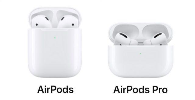 Порівняння AirPods та AirPods Pro