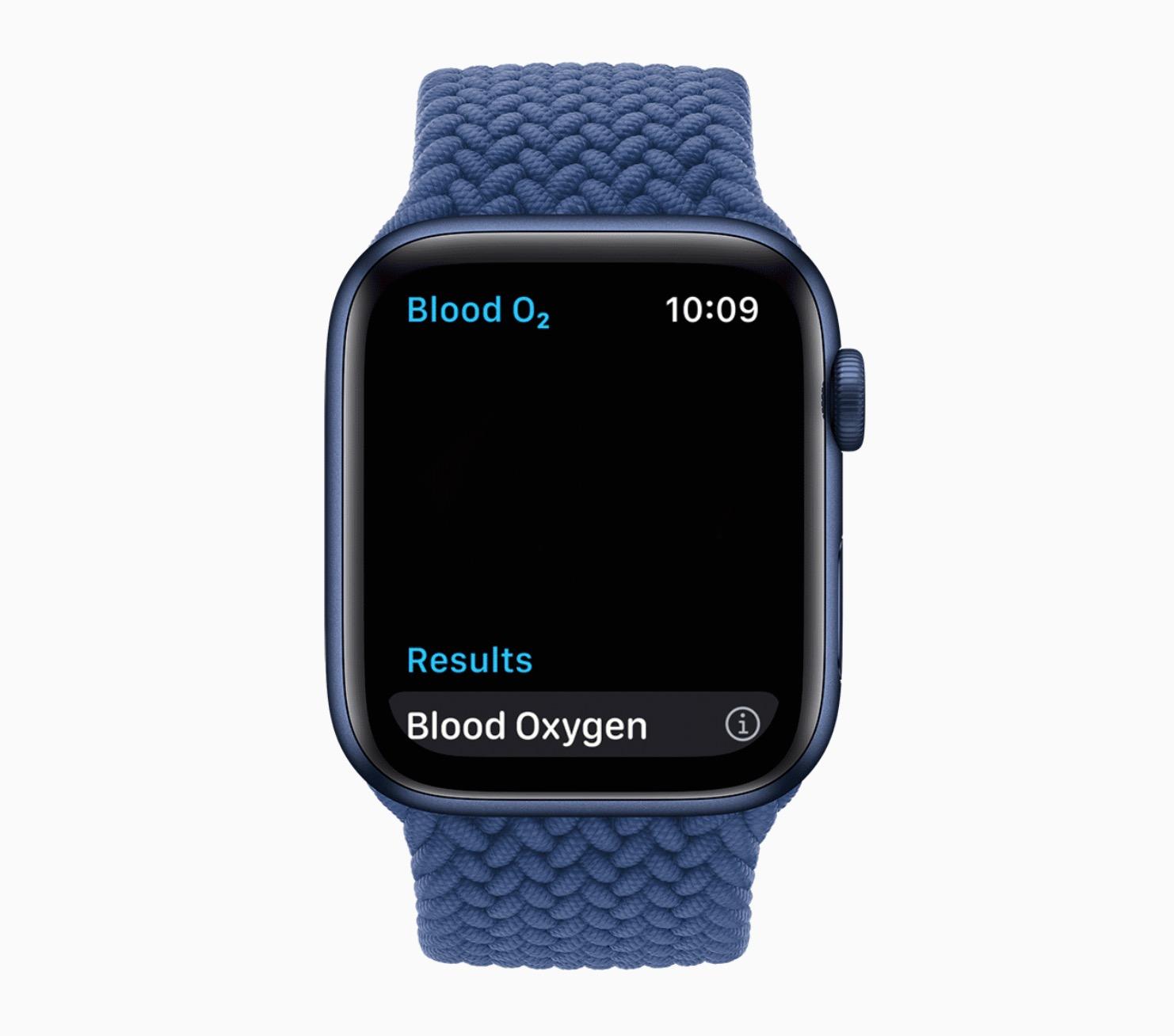 вимірювання рівню кисню в крові на Apple Wacth 6